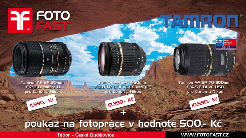 K vybraným objektivům Tamron od nás dostanete poukaz na fotopráce v hodnotě 500,- Kč.